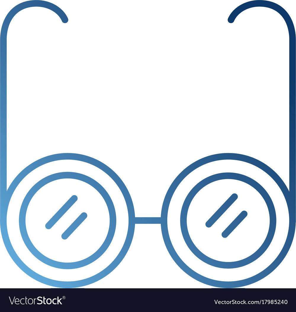 Glasses medical optic frame lens icon vector image