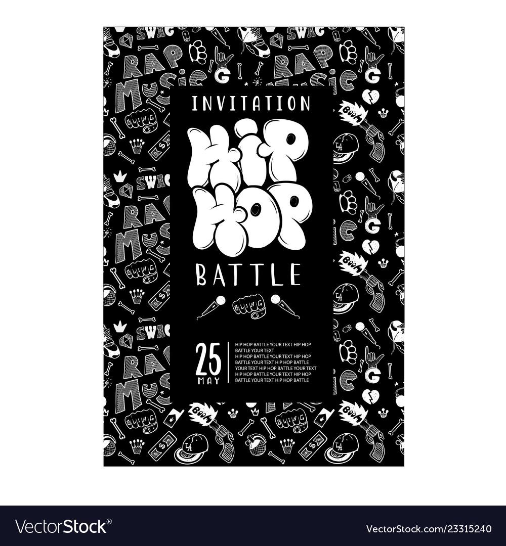 Rap battle concert hip-hop music template