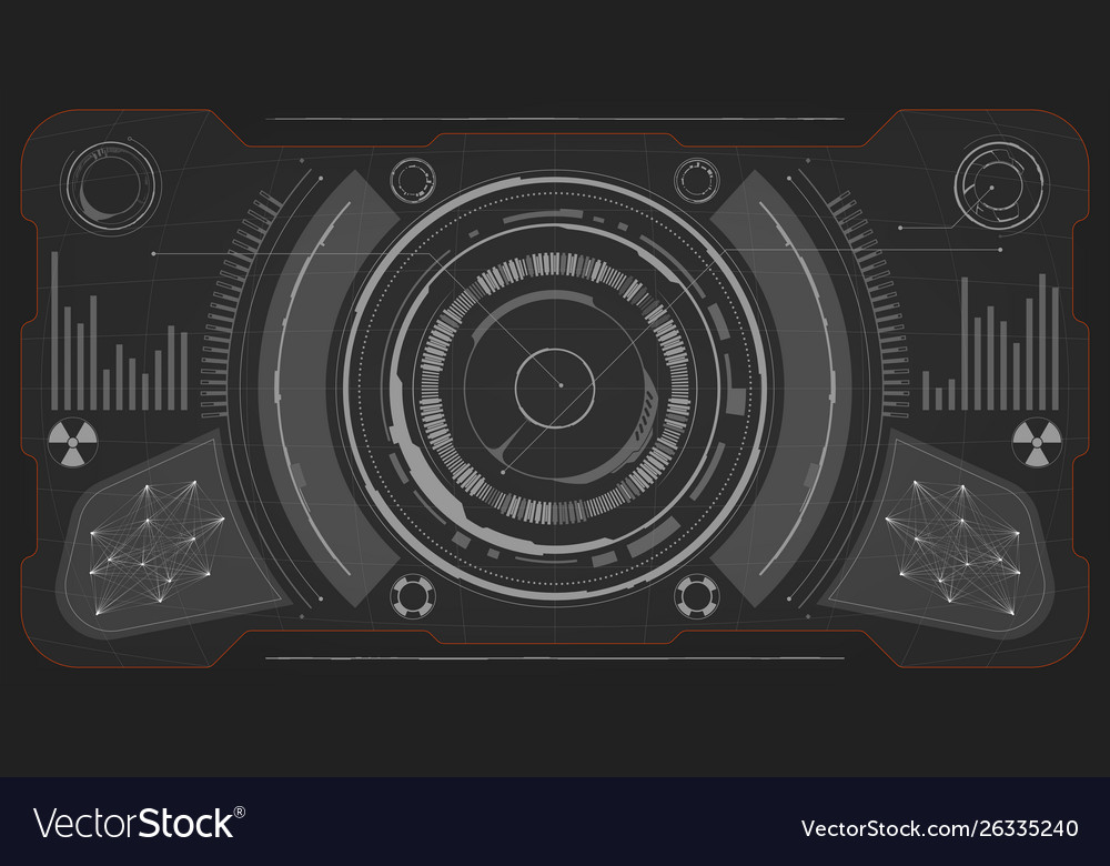 Sci-fi futuristic glowing hud display vitrual
