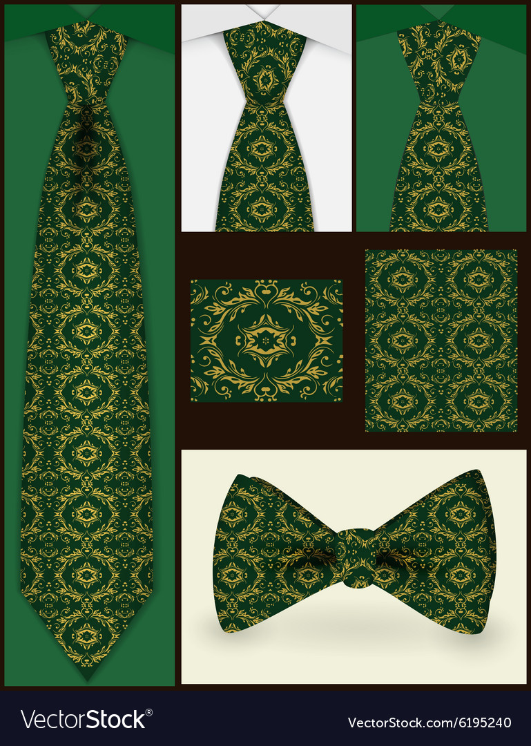 Tie and seamless pattern on it