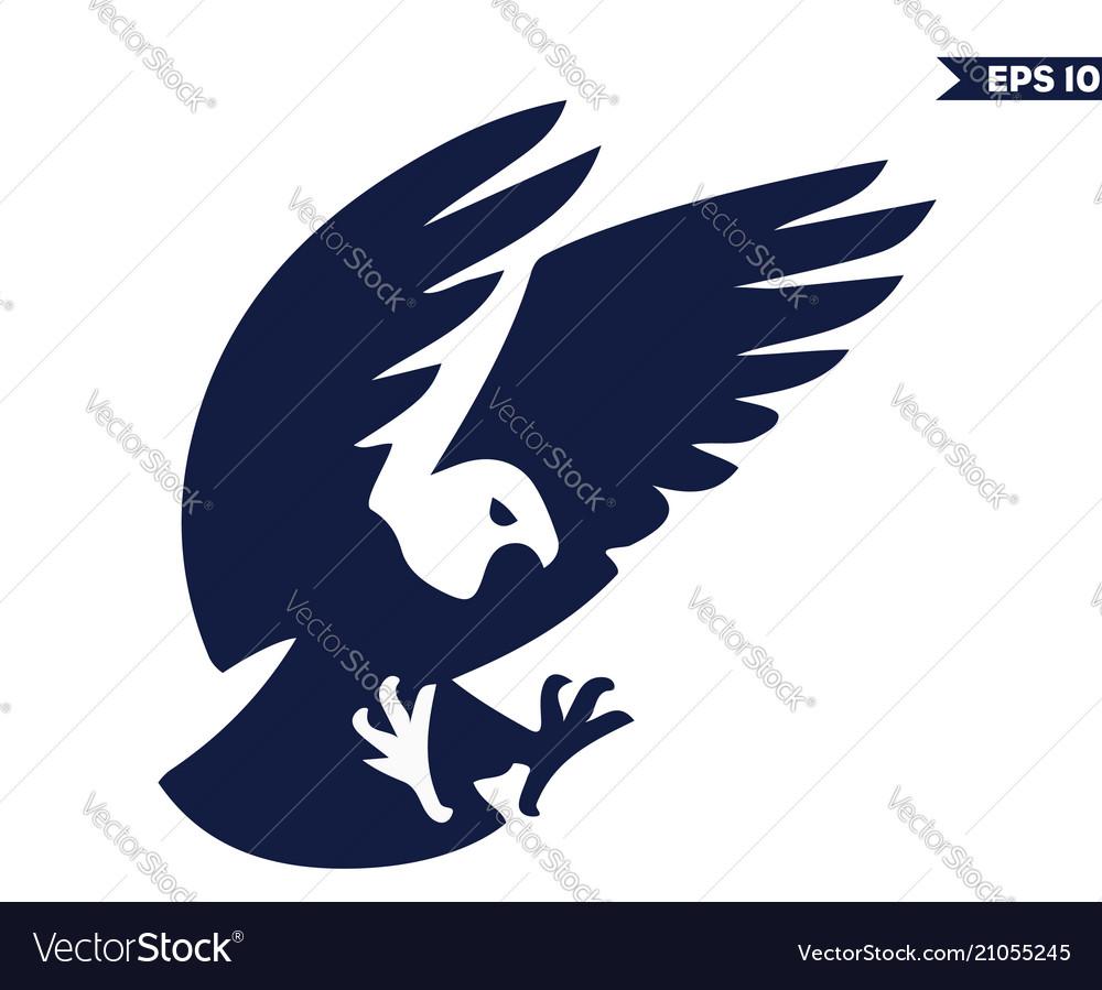 blue eagle logo royalty free vector image vectorstock