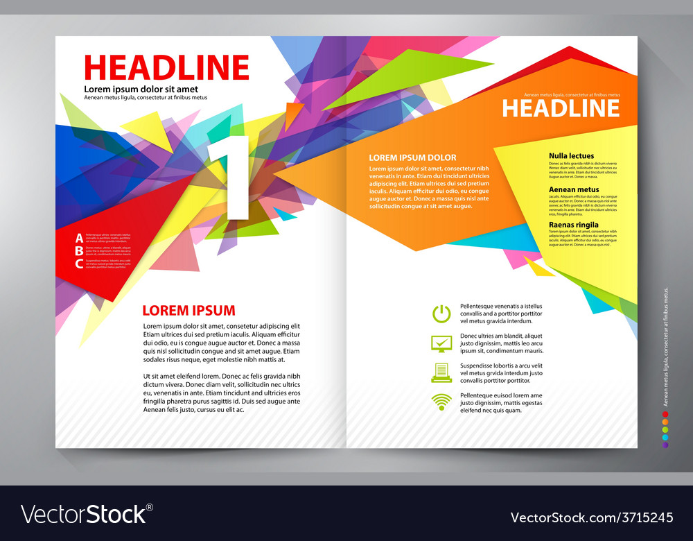 Brochure Design Two Pages A4 Template Royalty Free Vector