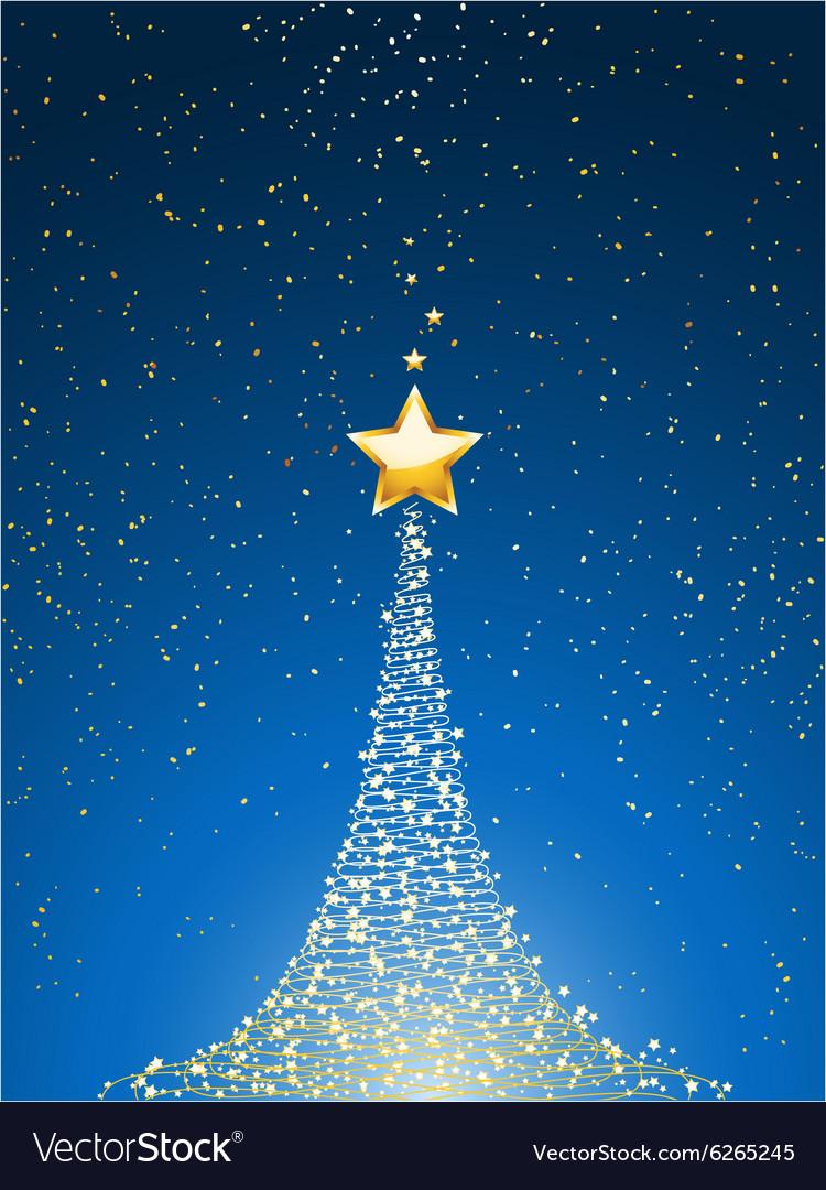 Christmas Background Portrait.Christmas Tree Over Blue Portrait