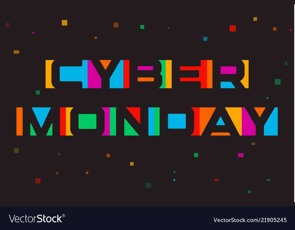 Cyber monday poster discount card template