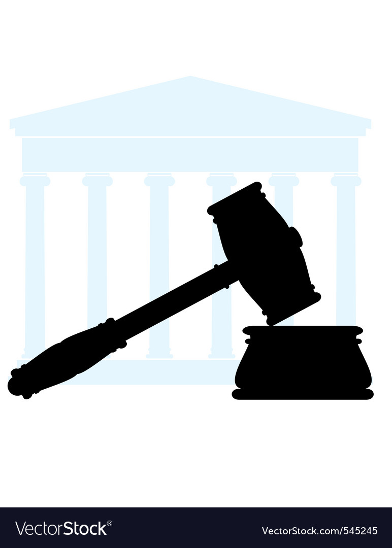 gavel and court royalty free vector image vectorstock