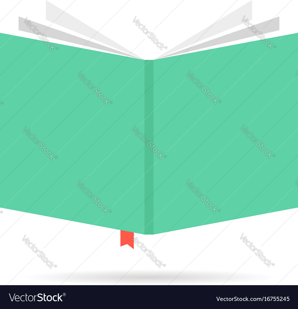 Green book icon with bookmark