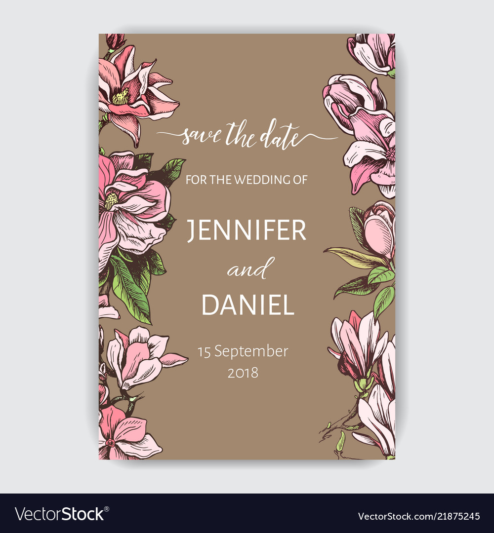 Invitation for the wedding card with