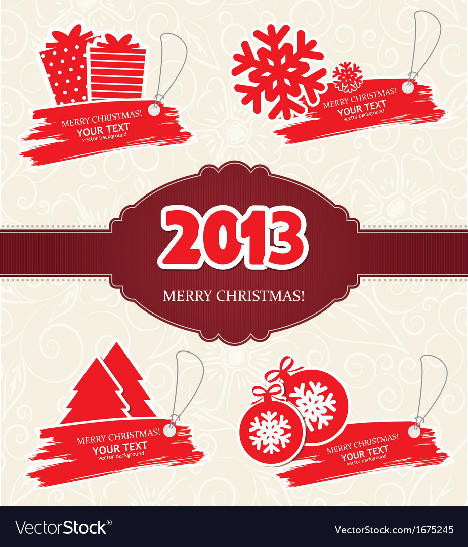 Merry Christmas Labels.Merry Christmas Labels Vector Image On Vectorstock