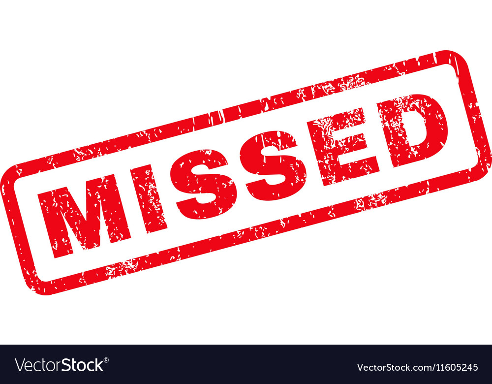 Missed Text Rubber Stamp vector image