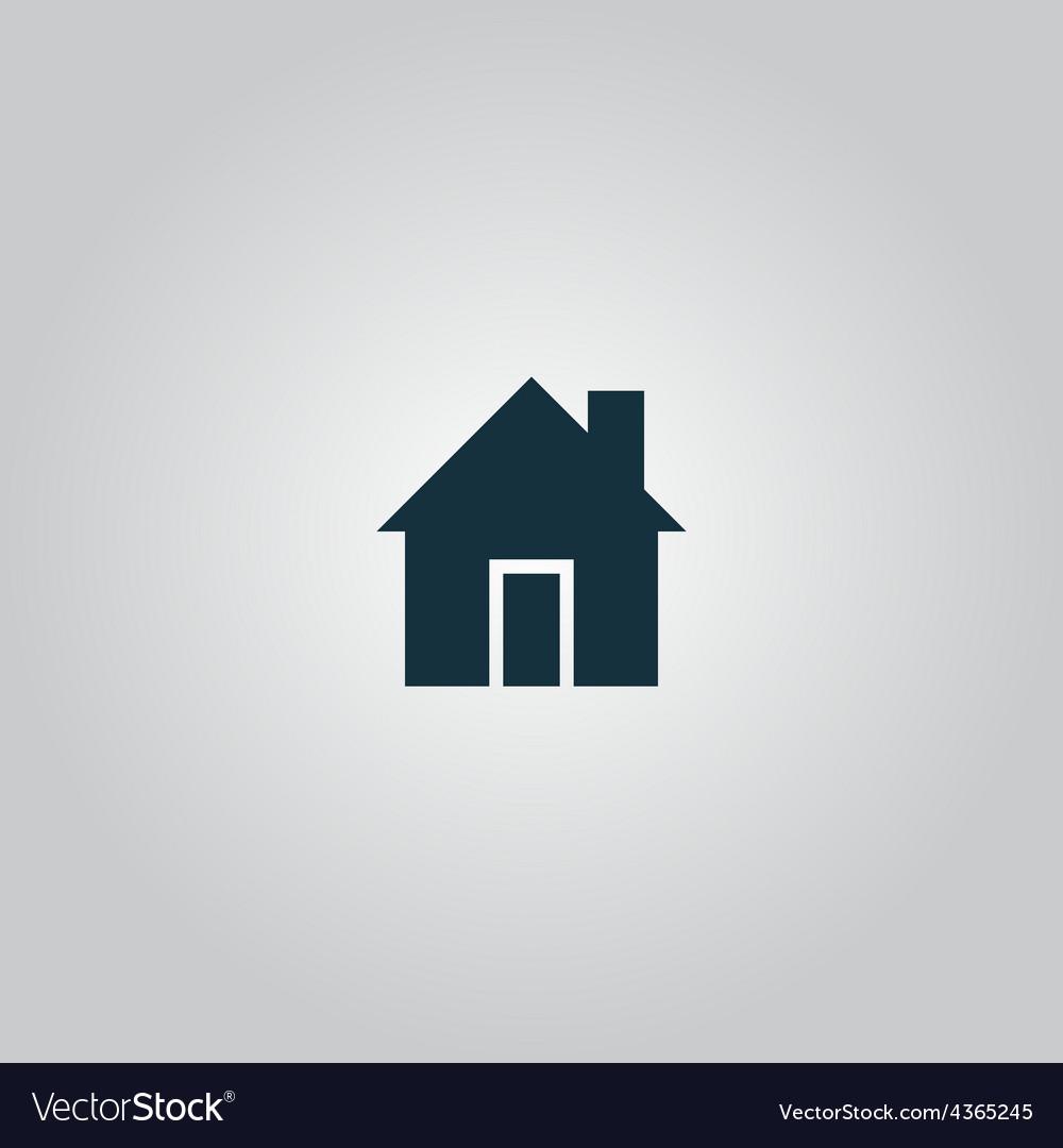 Retro style home icon isolated