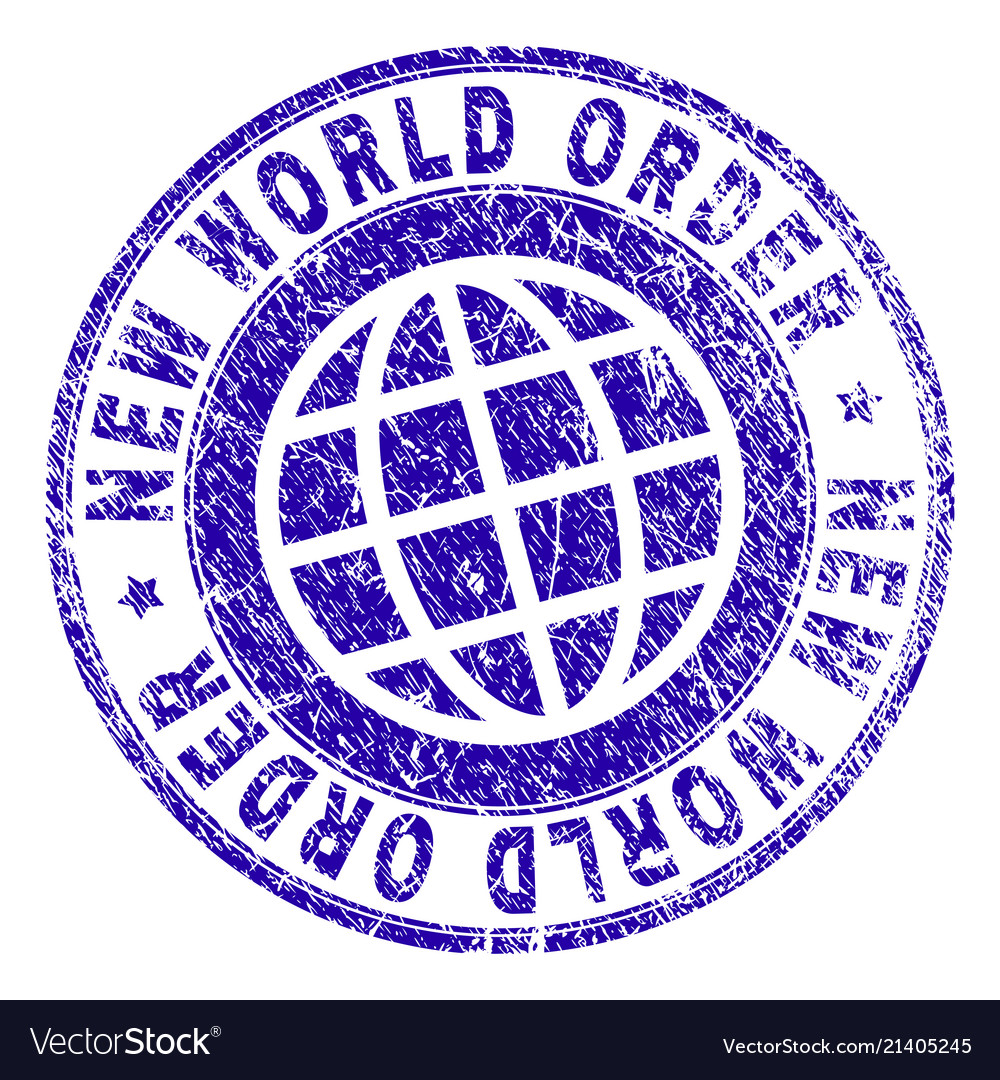 Scratched Textured New World Order Stamp Seal Vector Image