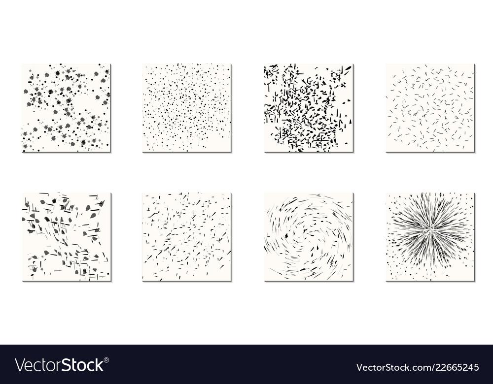 Set of black splashes spots of splashes