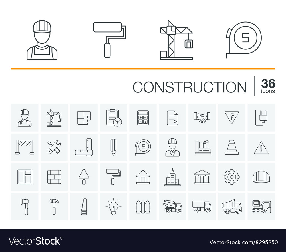 Construction industrial icons