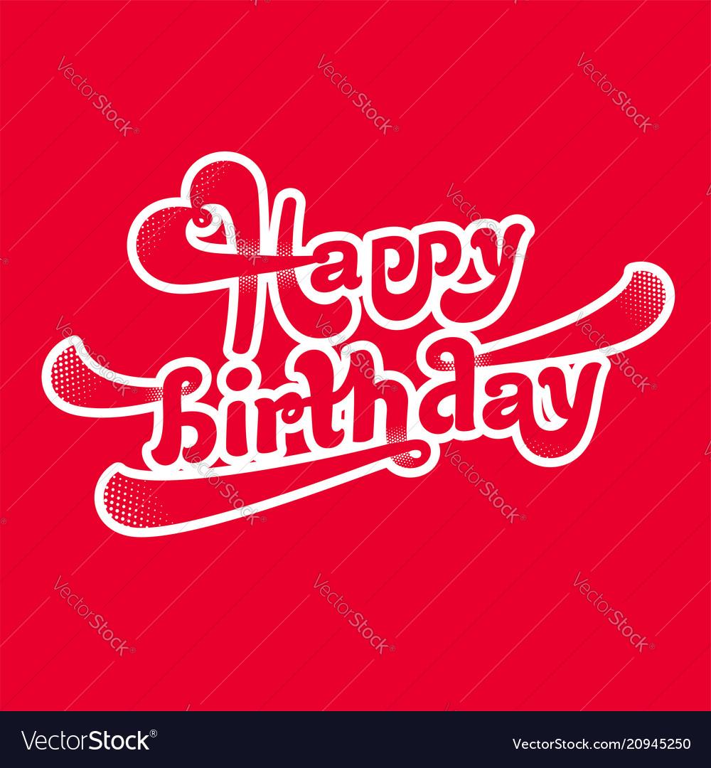 Happy birthday logotype