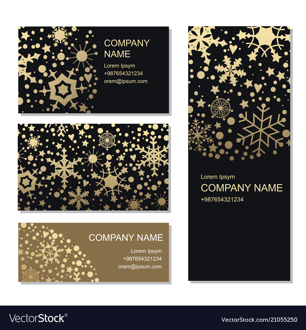 Set business or invitation cards templates