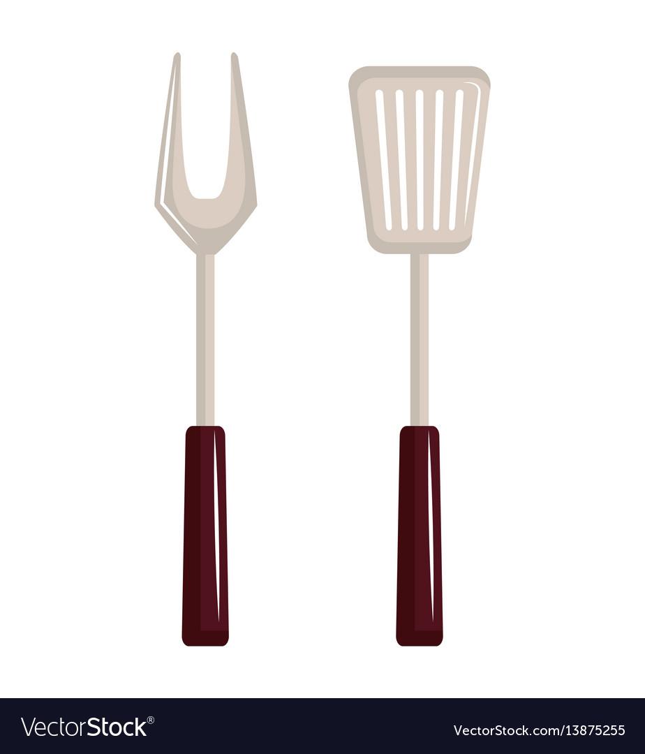 Bbq cutlery menu icon