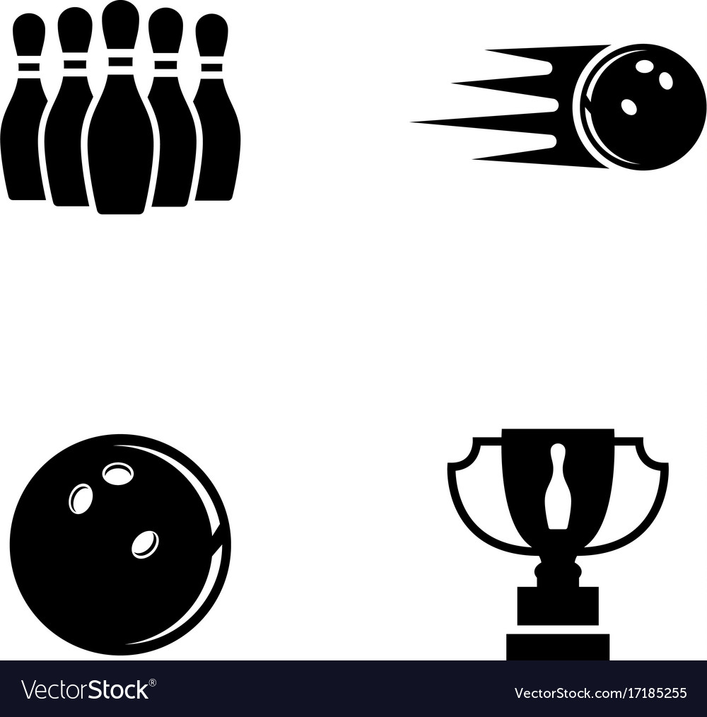 Bowling simple related icons