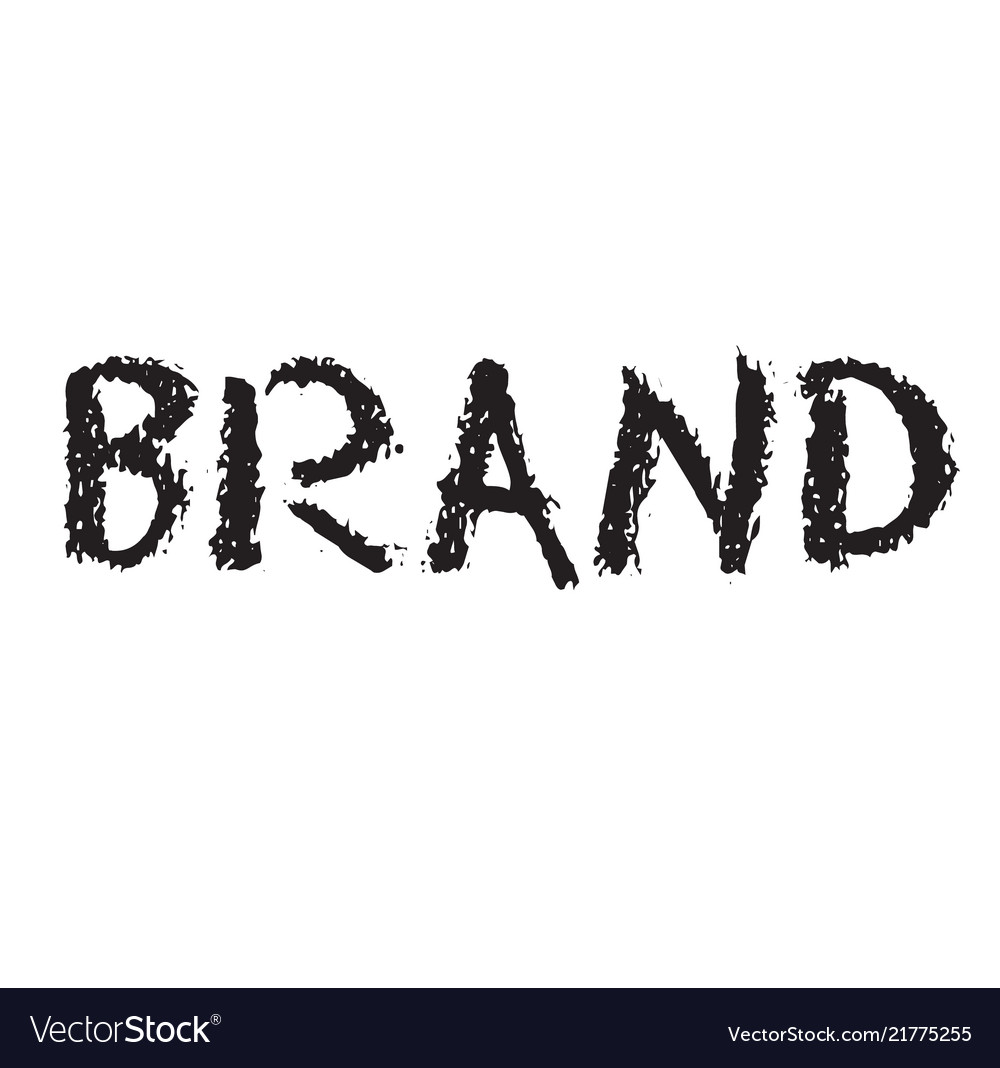 Brand rubber stamp vector image on VectorStock