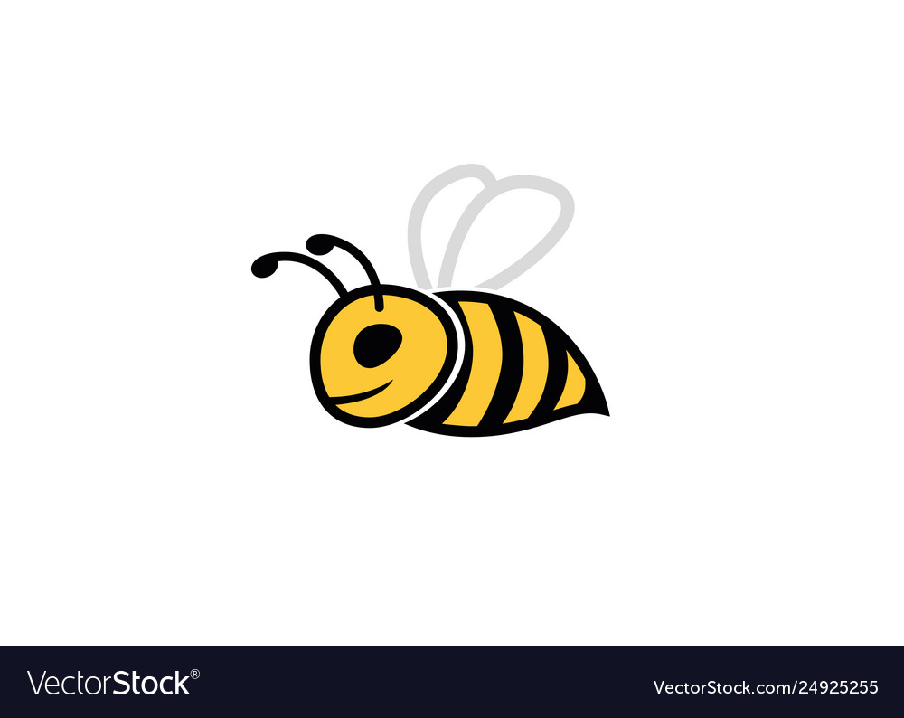 Creative bumble bee logo
