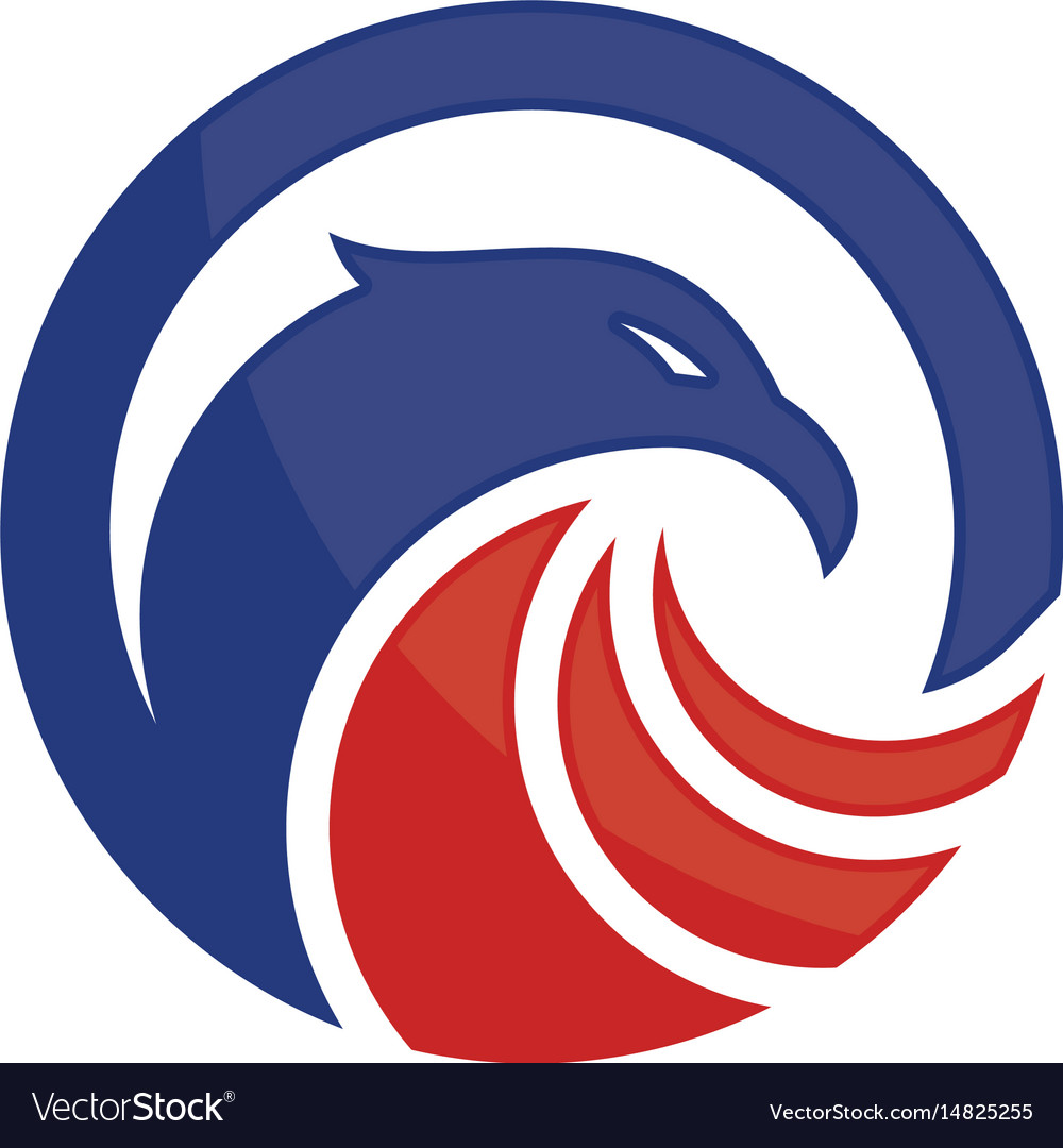 Eagle heads with circle logo image