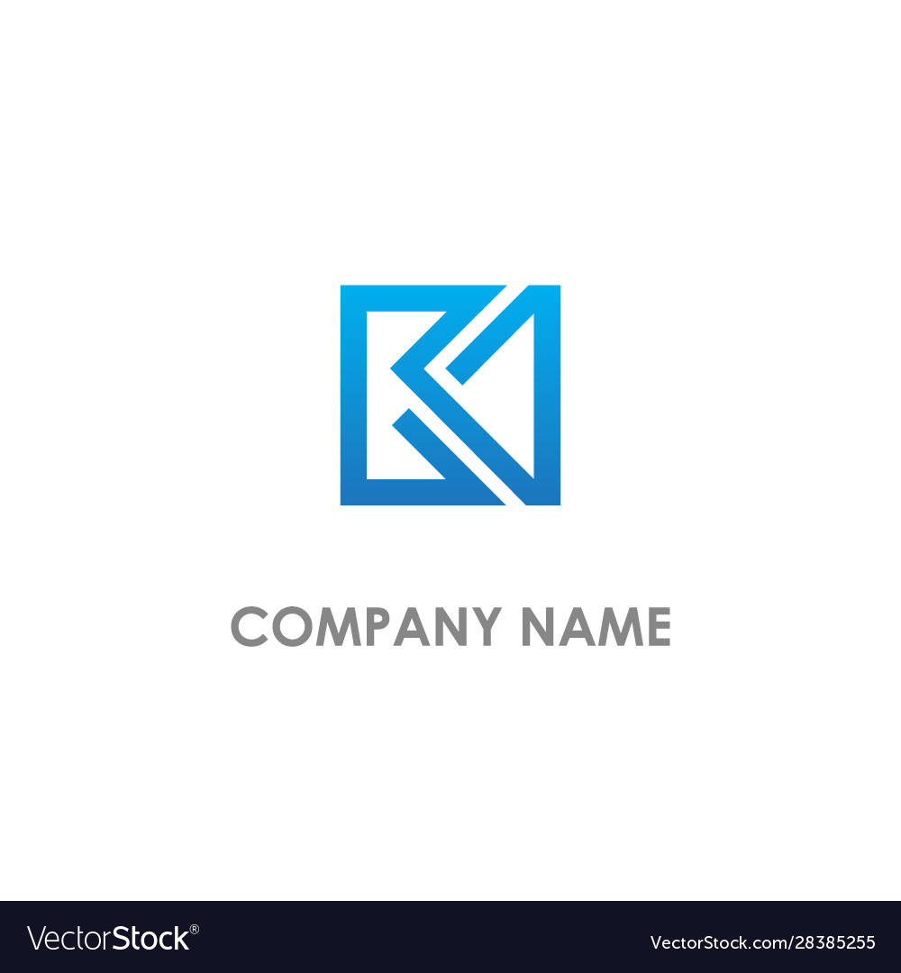 Square line abstract logo