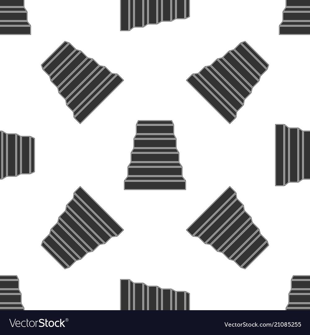 Staircase icon seamless pattern
