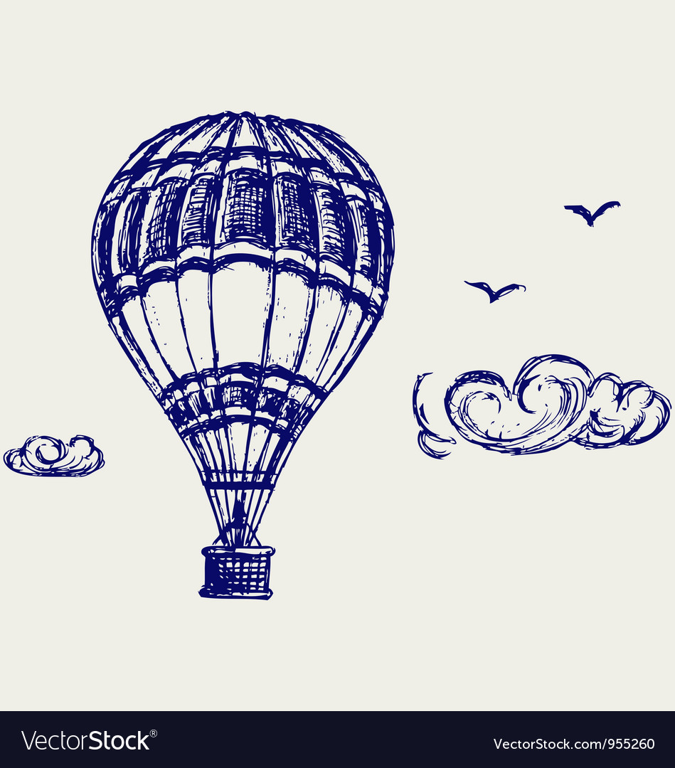 Balloon sketch vector image