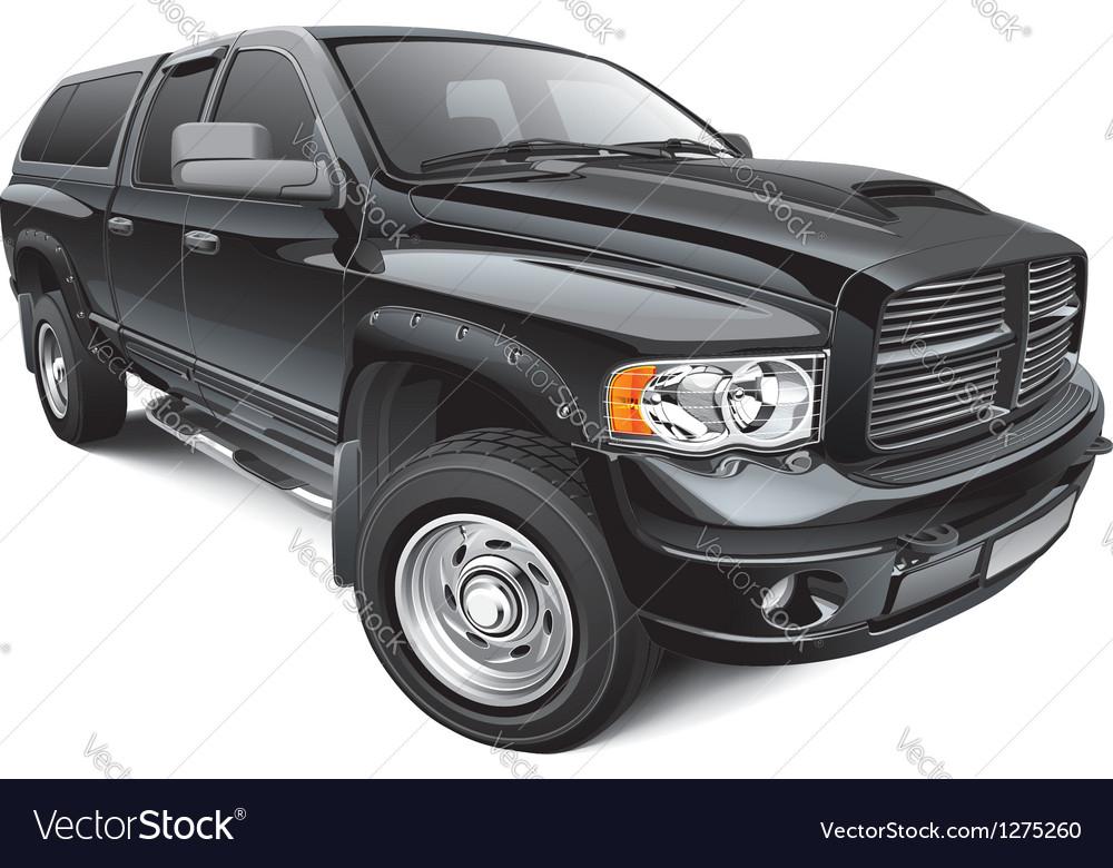Black large pickup