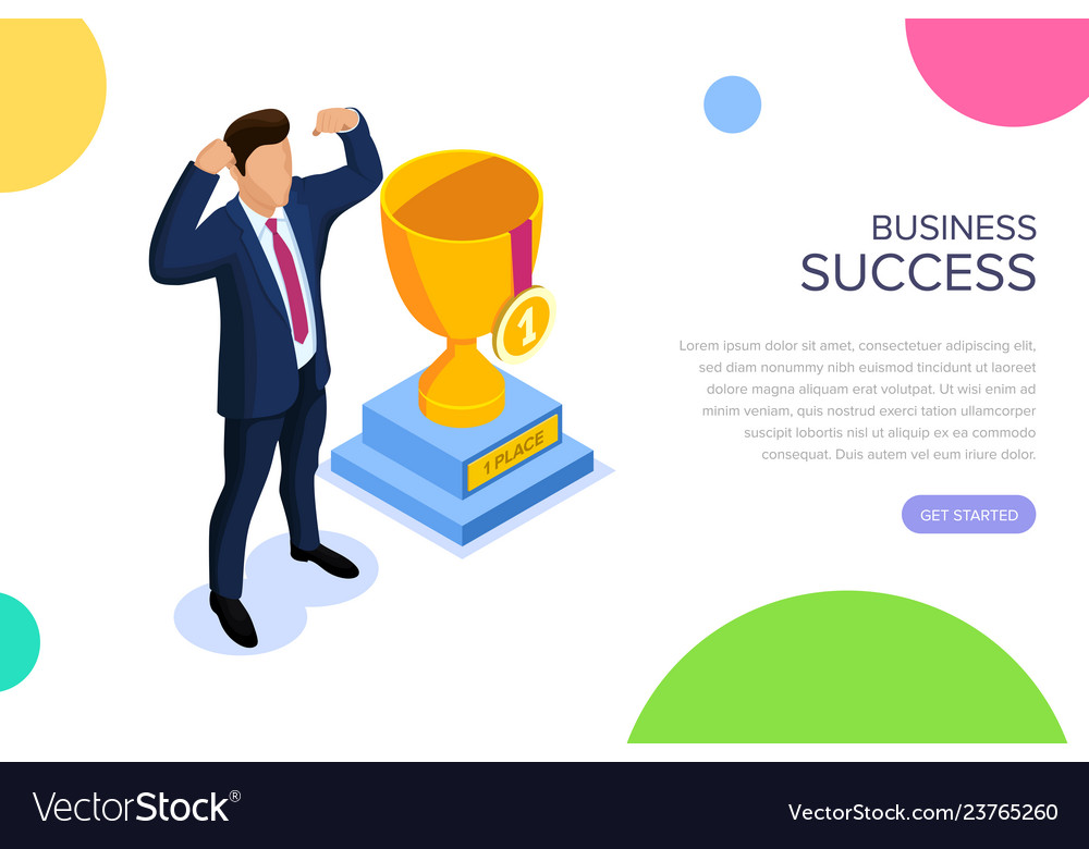 Business success concept with characters can use
