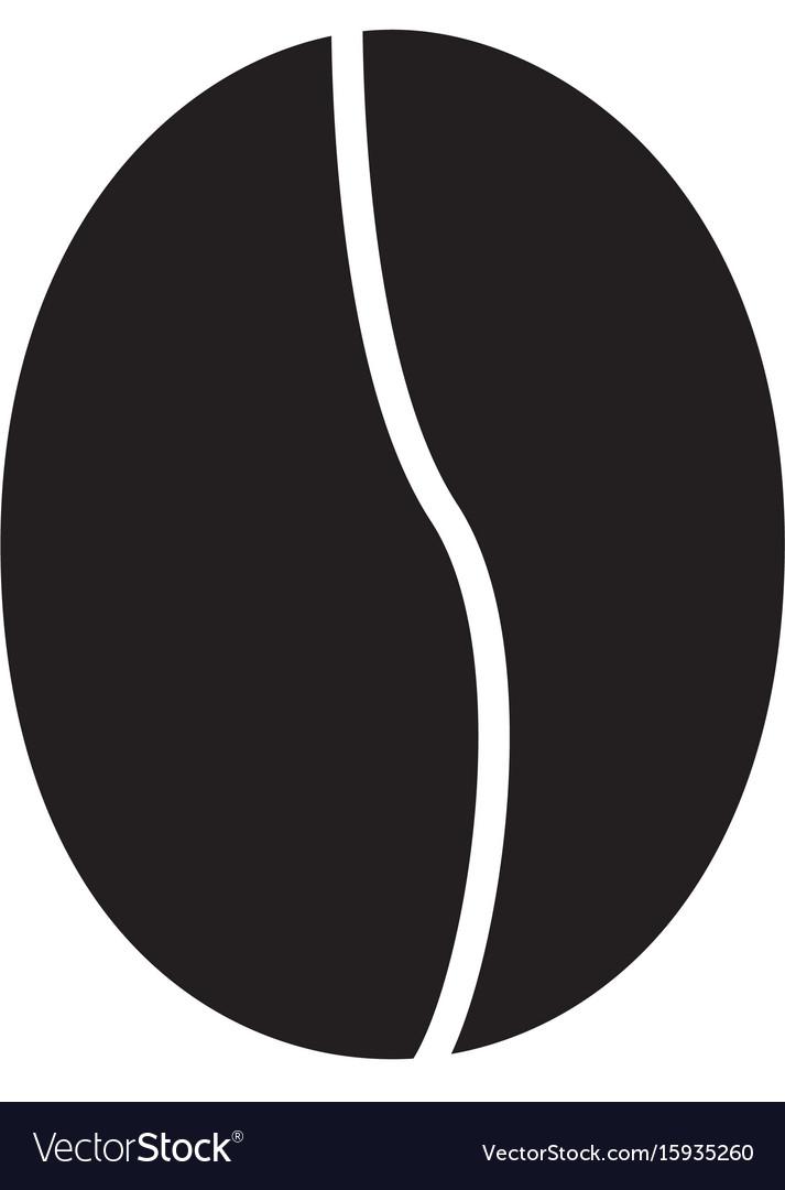 coffee bean icon on white background coffee bean vector image