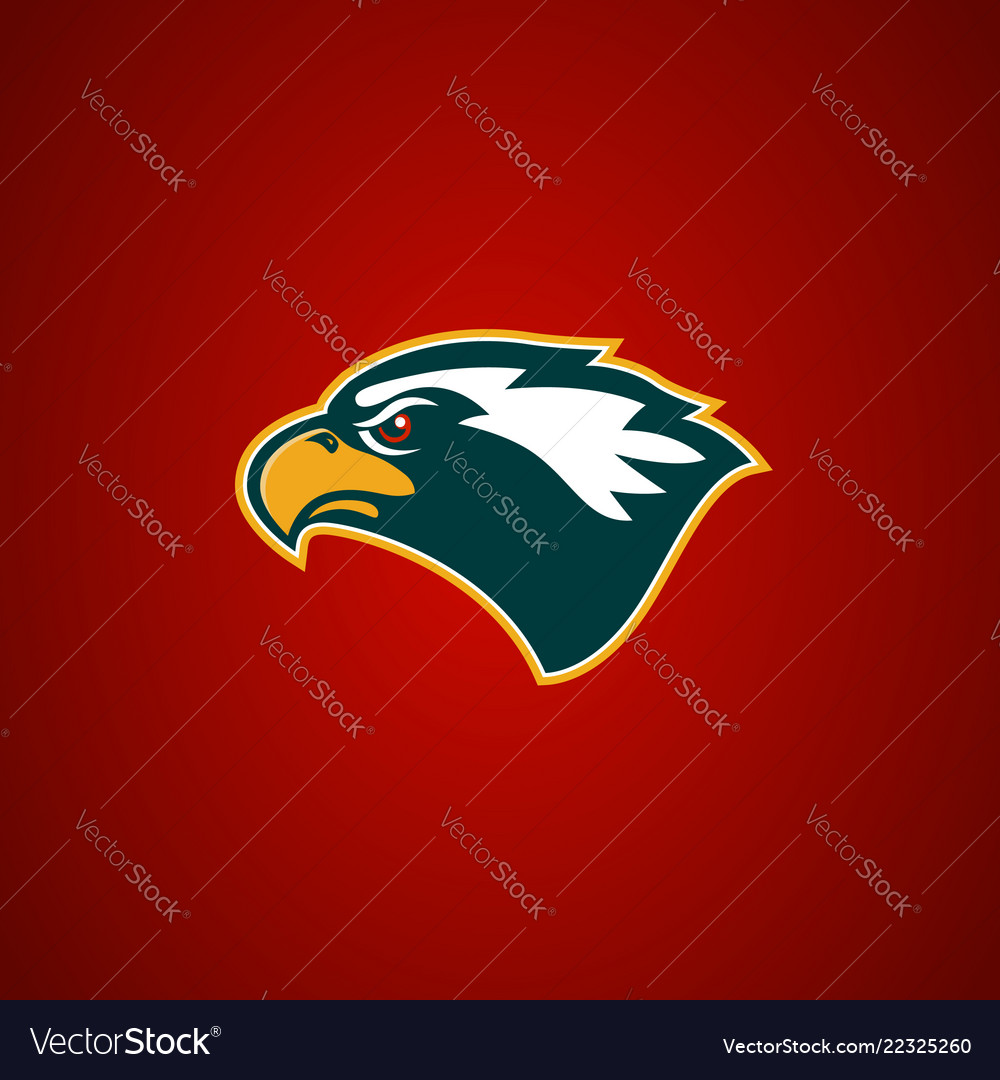 Eagle head sign design element for sport team