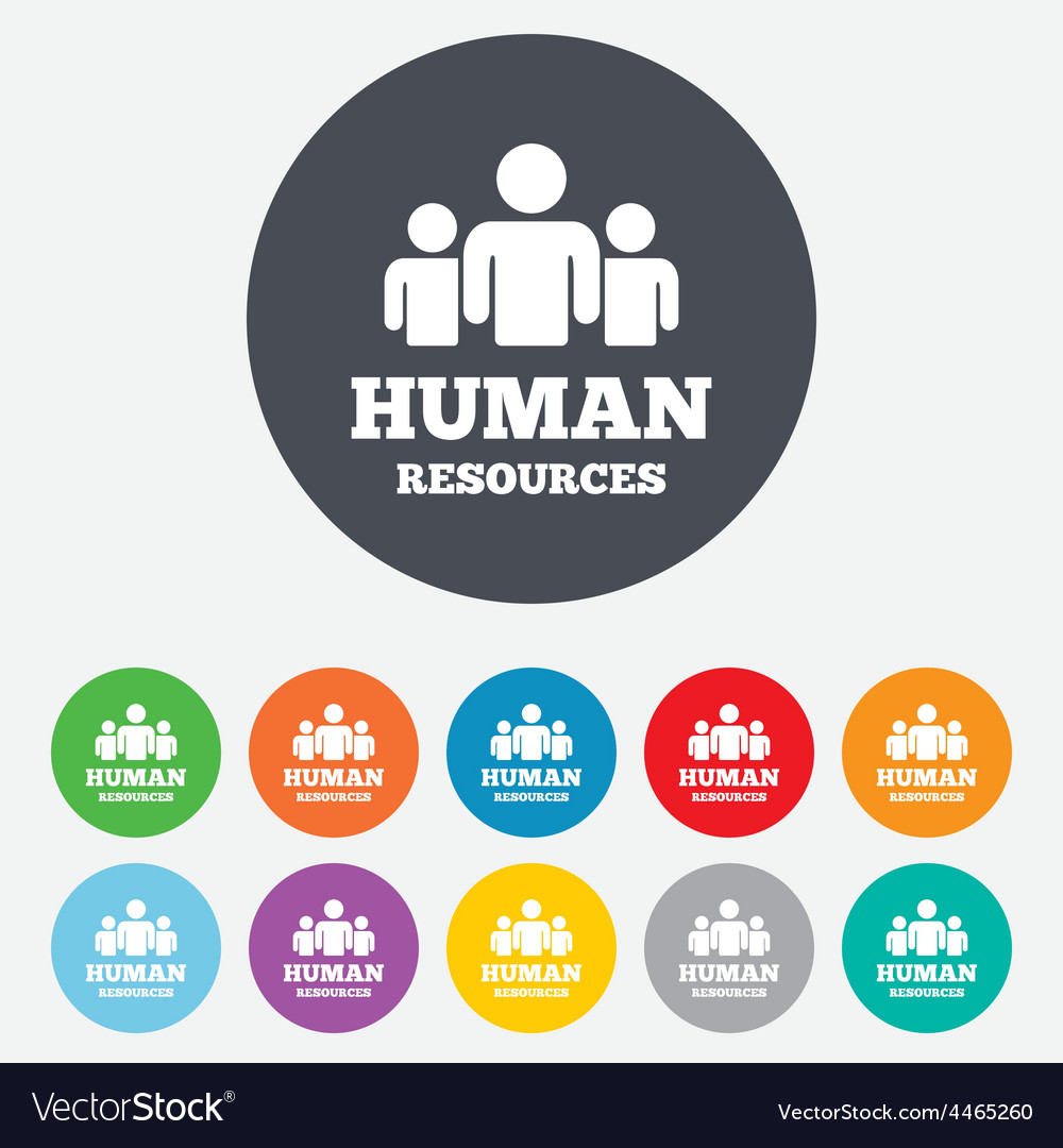 human resources sign icon hr symbol royalty free vector