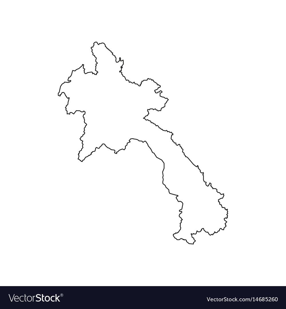 Laos map silhouette