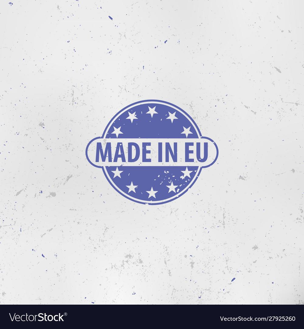 Made in european union emblem eu stamp europe