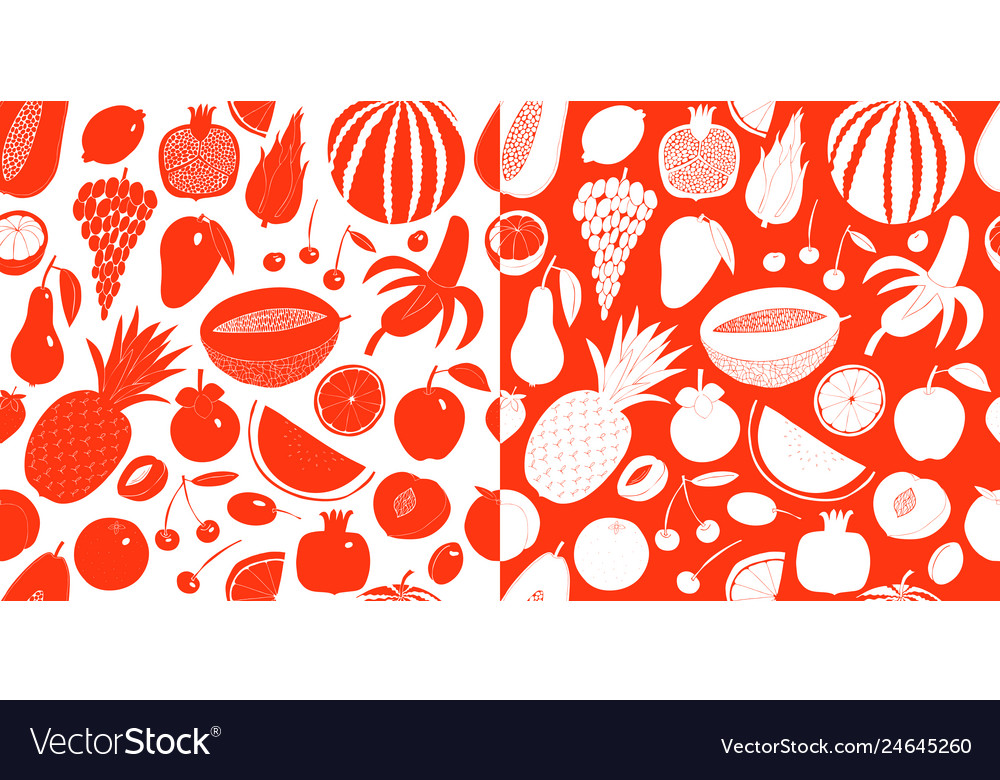 Scandinavian hand drawn fruit seamless