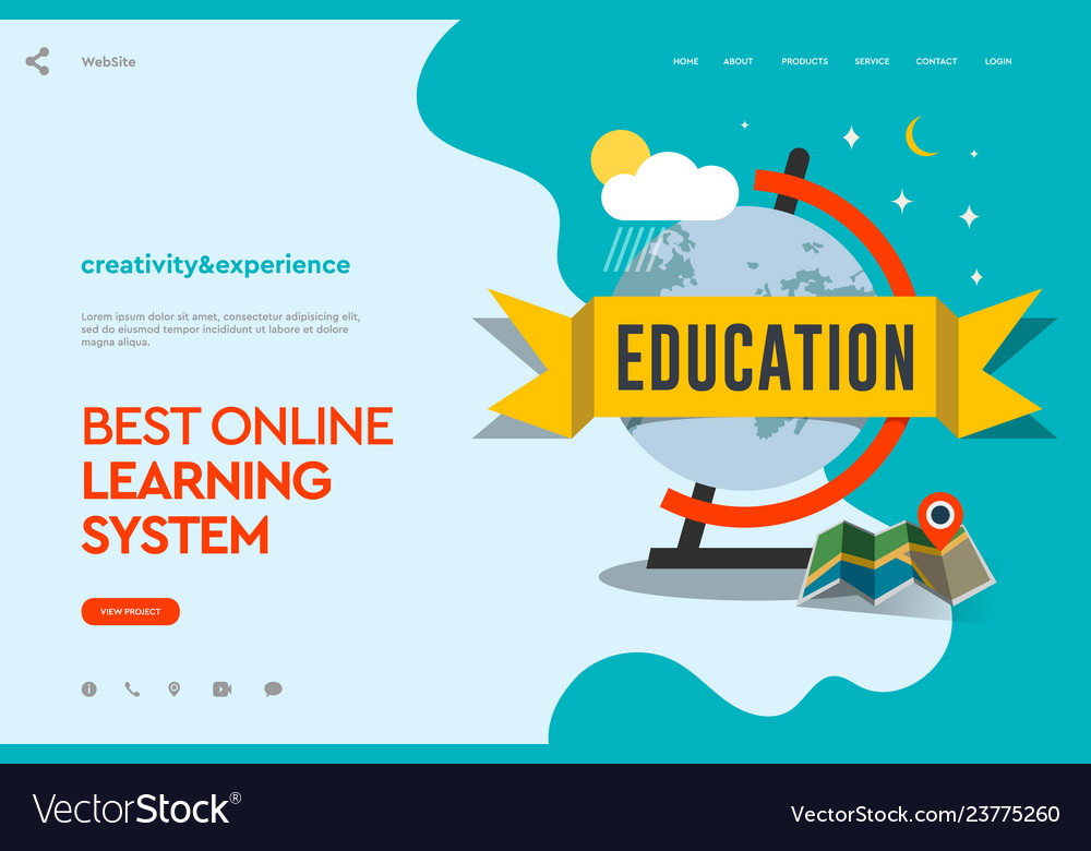 Web page design template of distance education