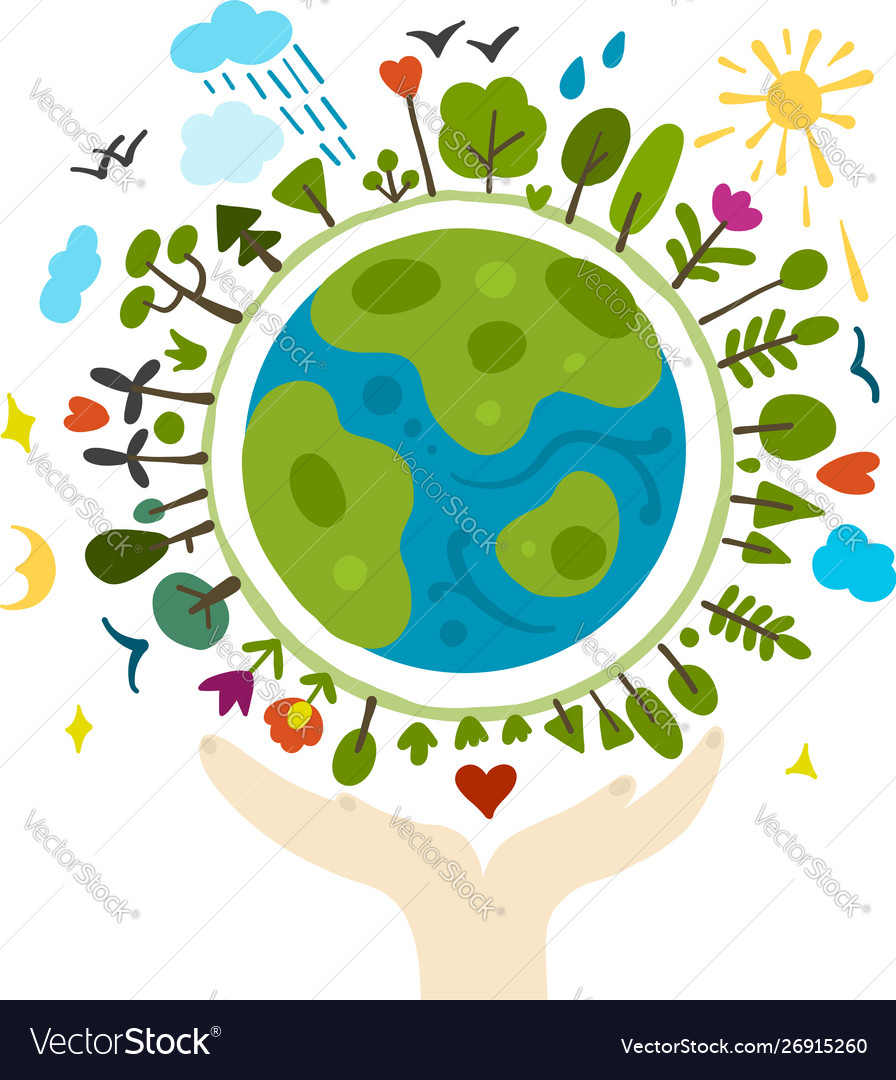 World environment day background save earth