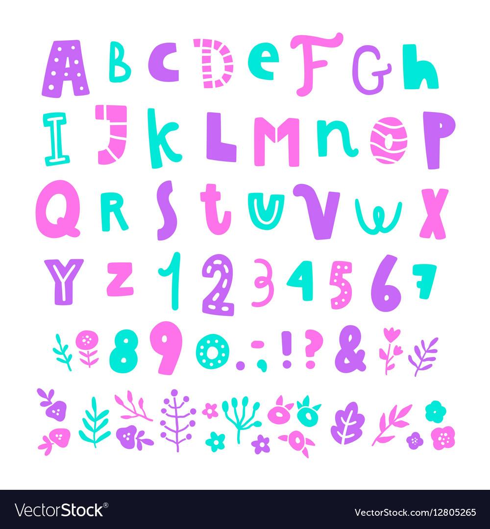 Bright cartoon font