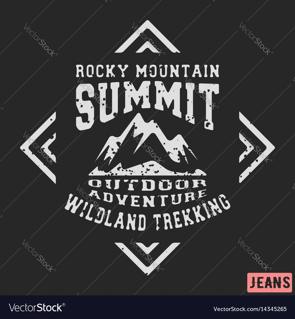 Mountains vintage stamp vector image