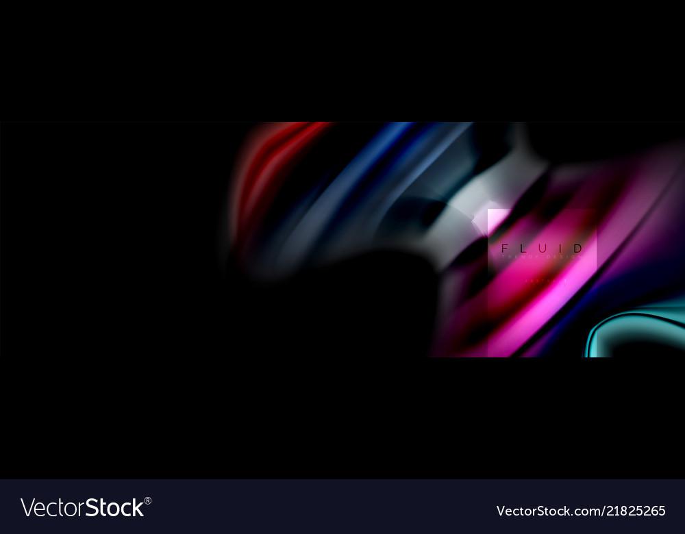 Rainbow fluid abstract shapes liquid colors