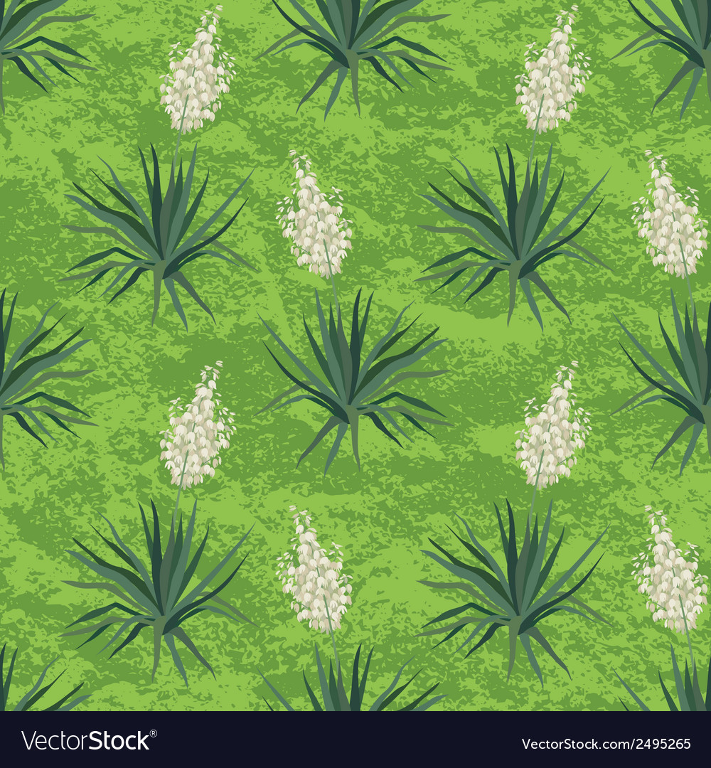 Seamless floral background Yucca flowers vector image
