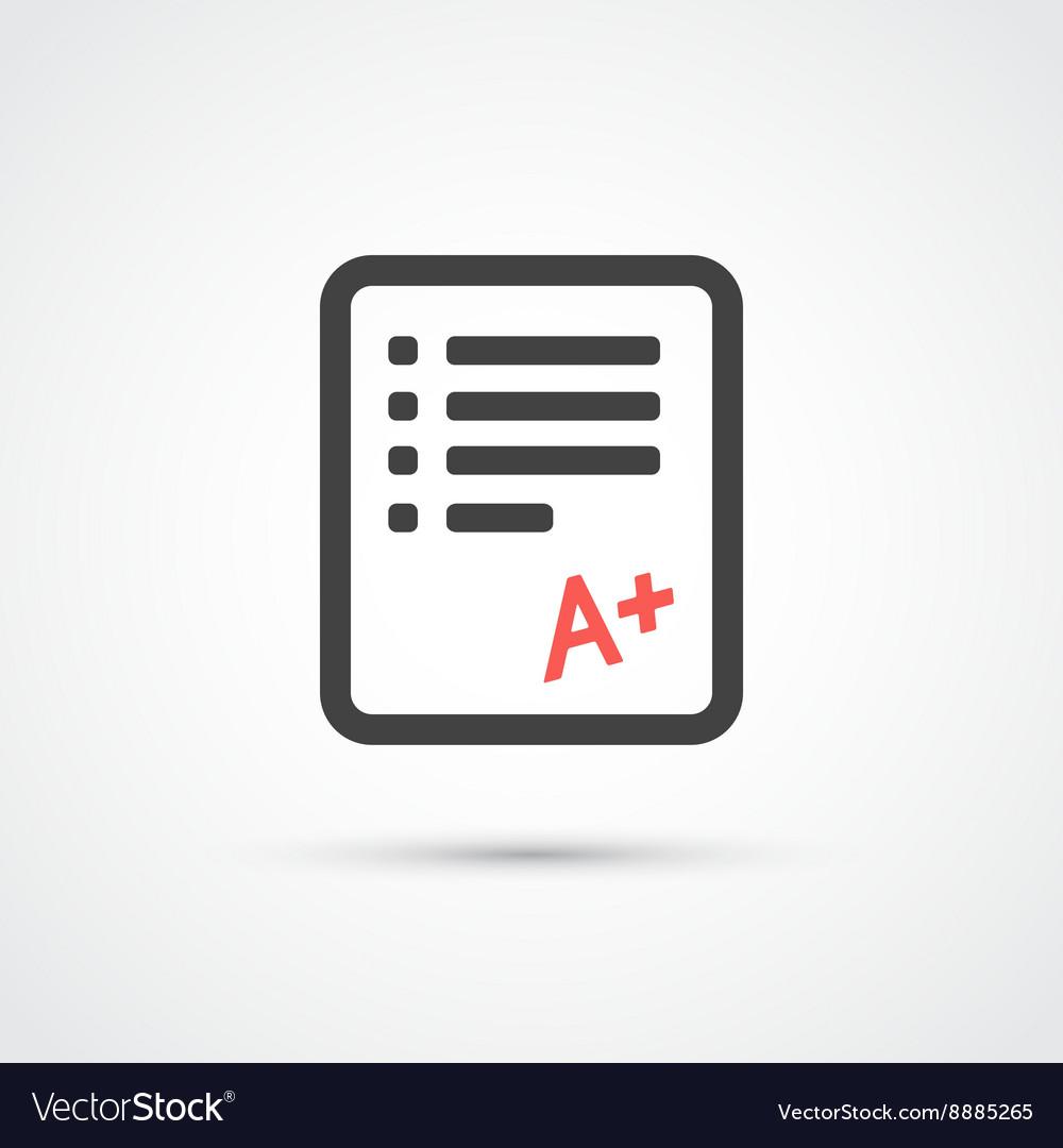Test paper trendy flat icon