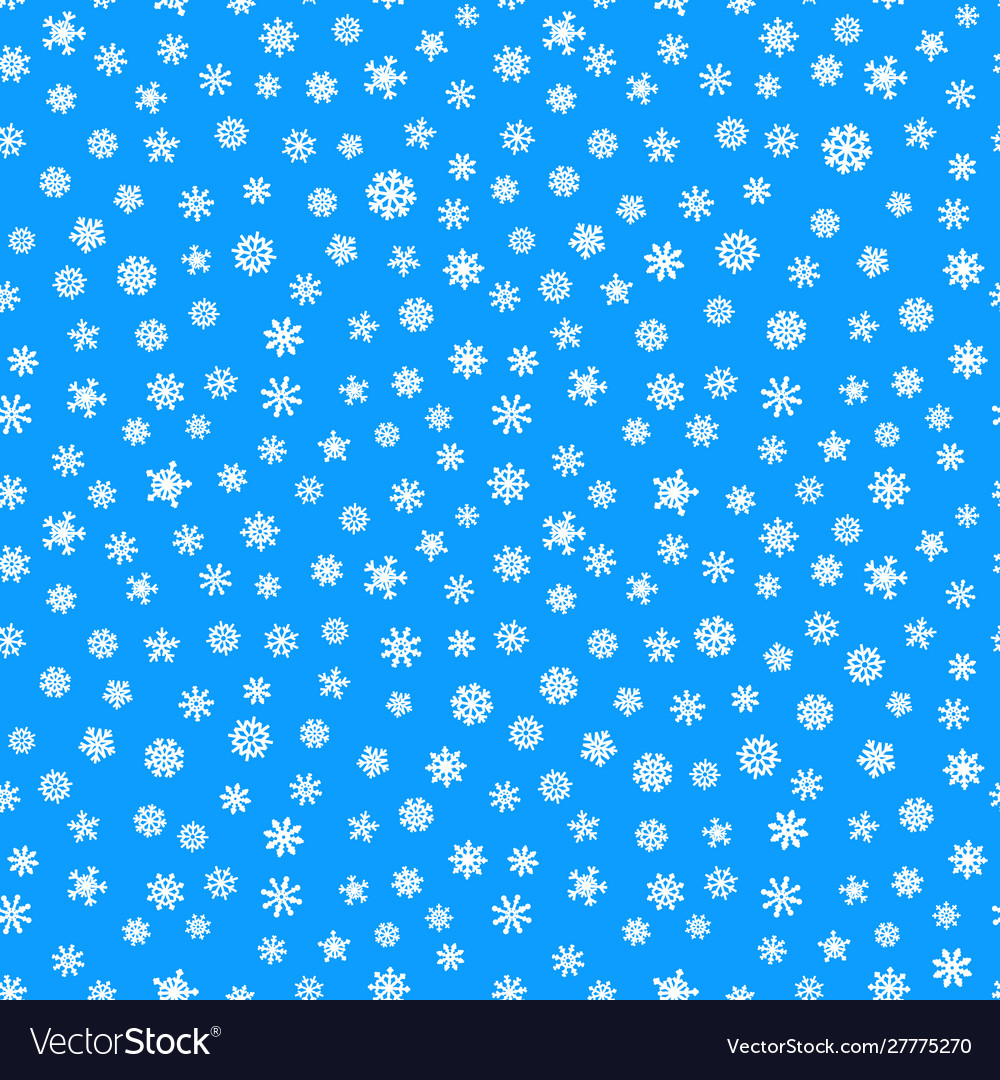 Abstract composition snowflakes seamless