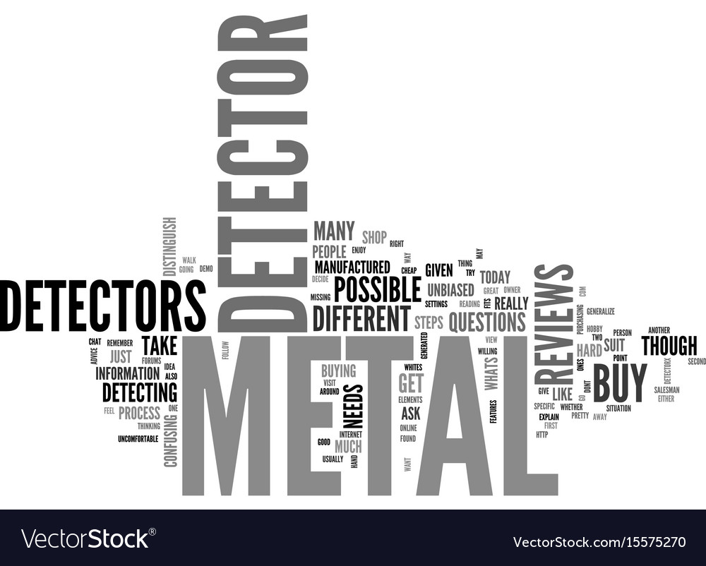 Before you buy a metal detector text word cloud vector image