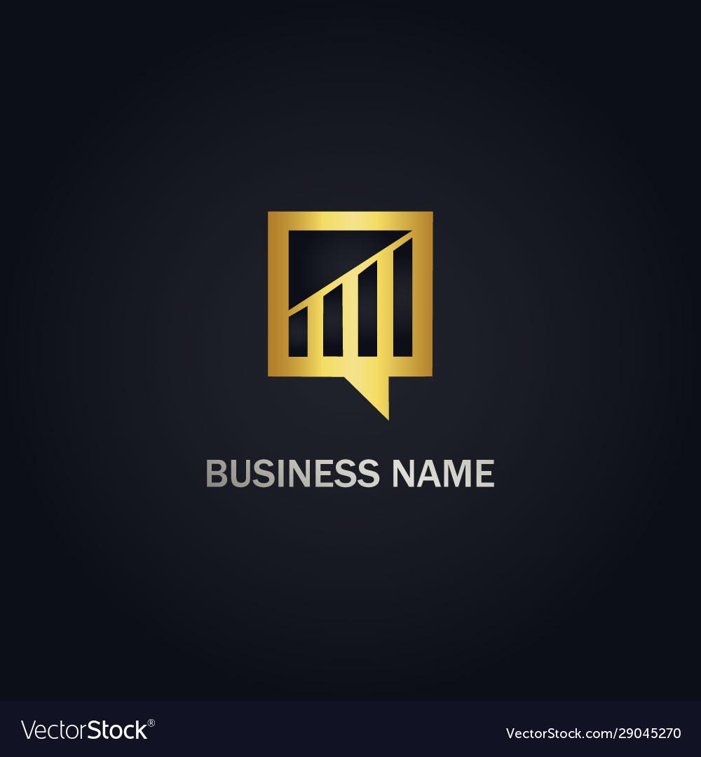 Chart business finance gold logo