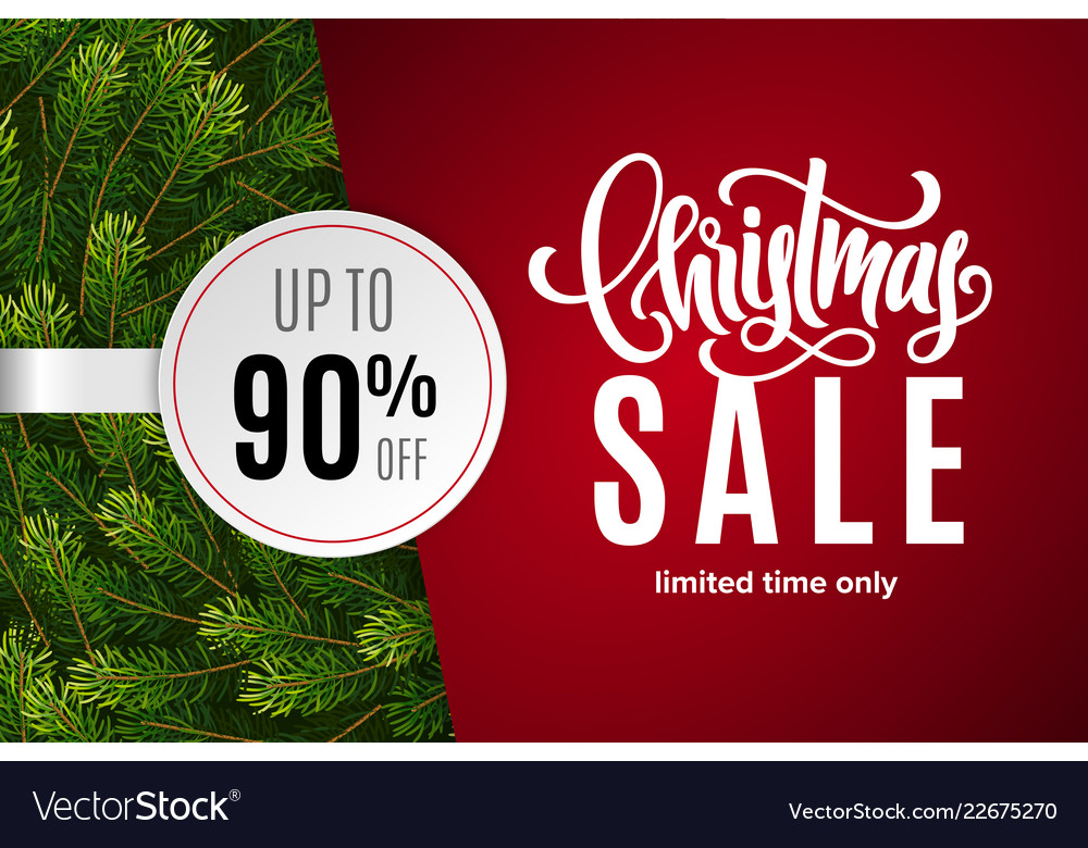 Christmas holiday sale 90 percent off