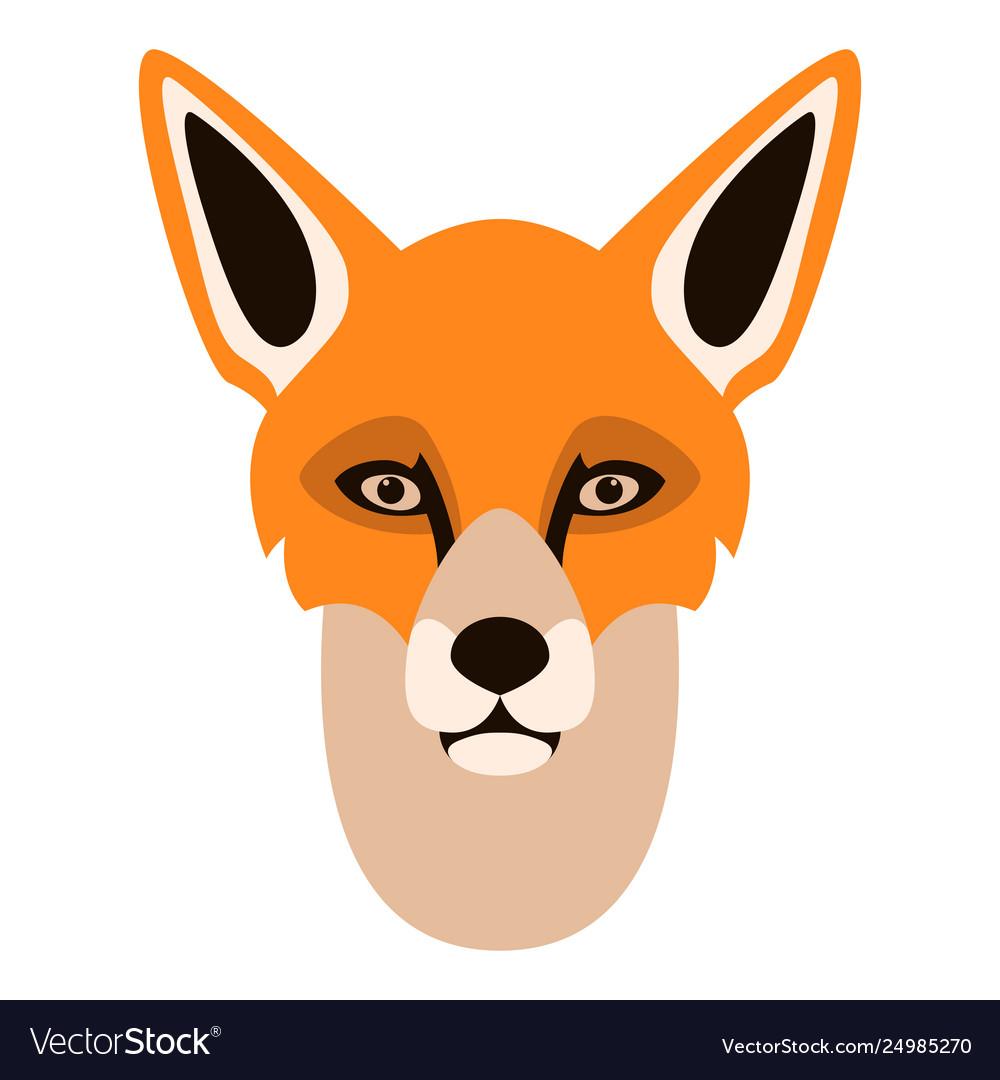 Fox face flat style