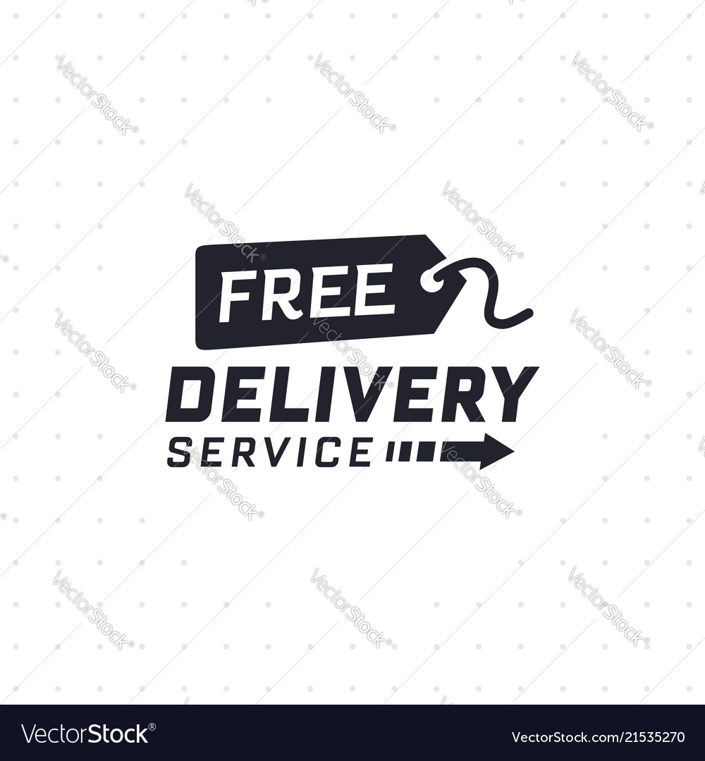 Free delivery service in black color