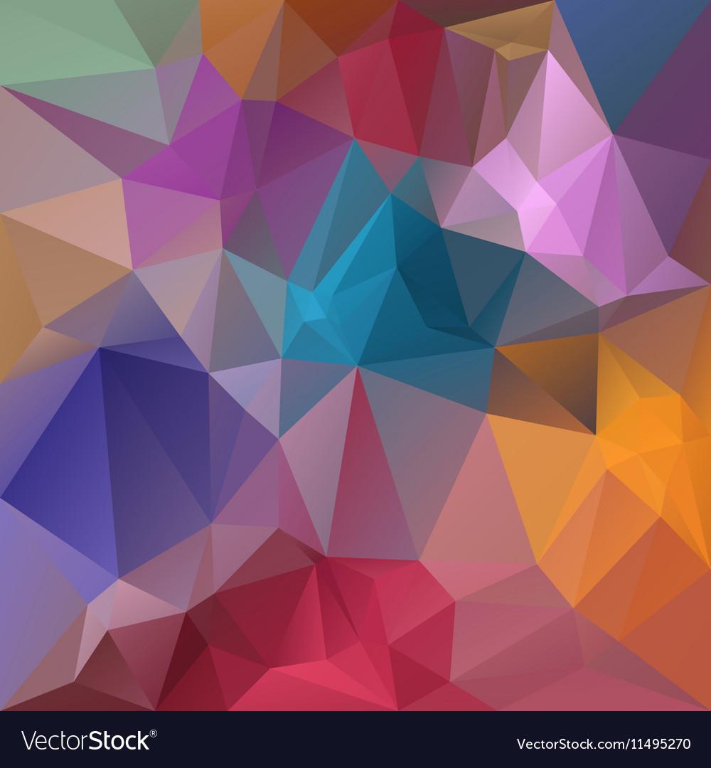 Full spectrum pastel colored polygon triangular vector image