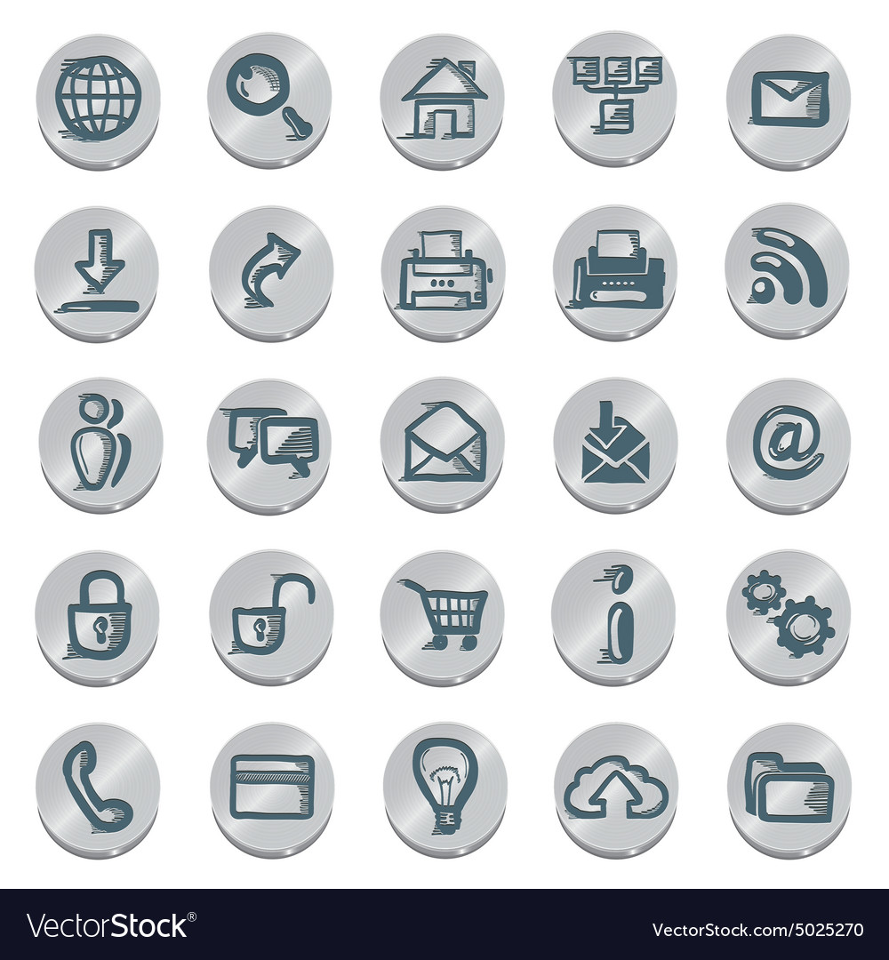 Icons sketches for the site vector image